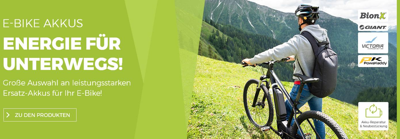 E-Bike Akkus - Energie für unterwegs