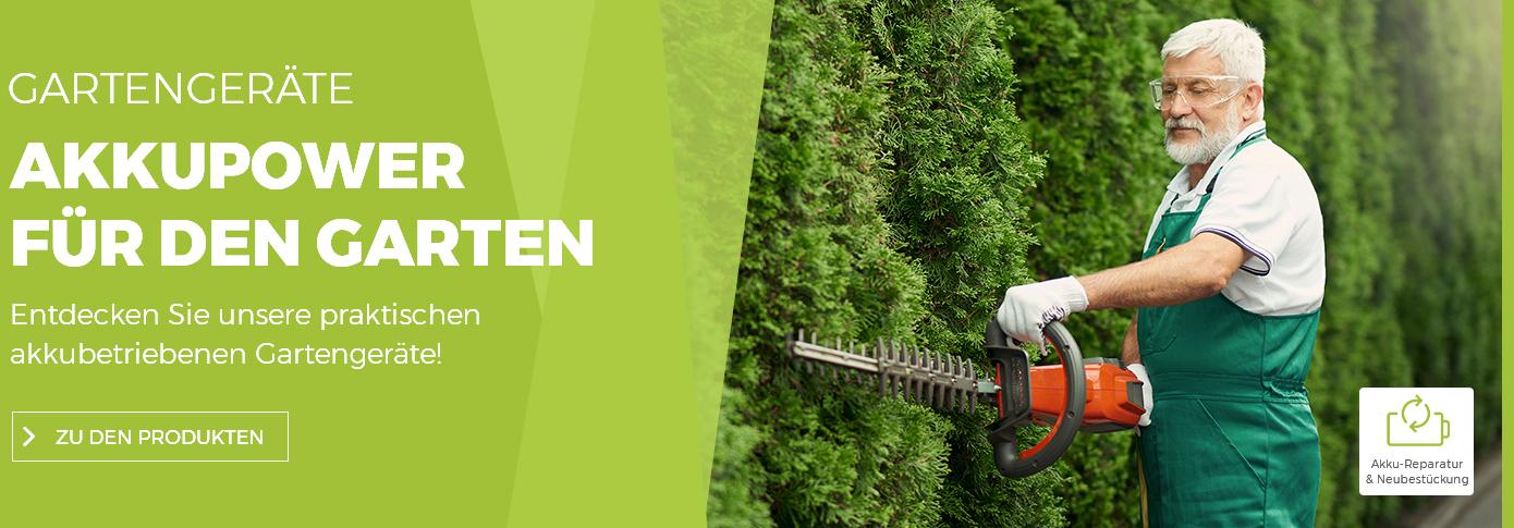 Gartengeräte - Akkupower für den Garten